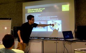 Ruben espino charla robótica de competición en la OSHWDem