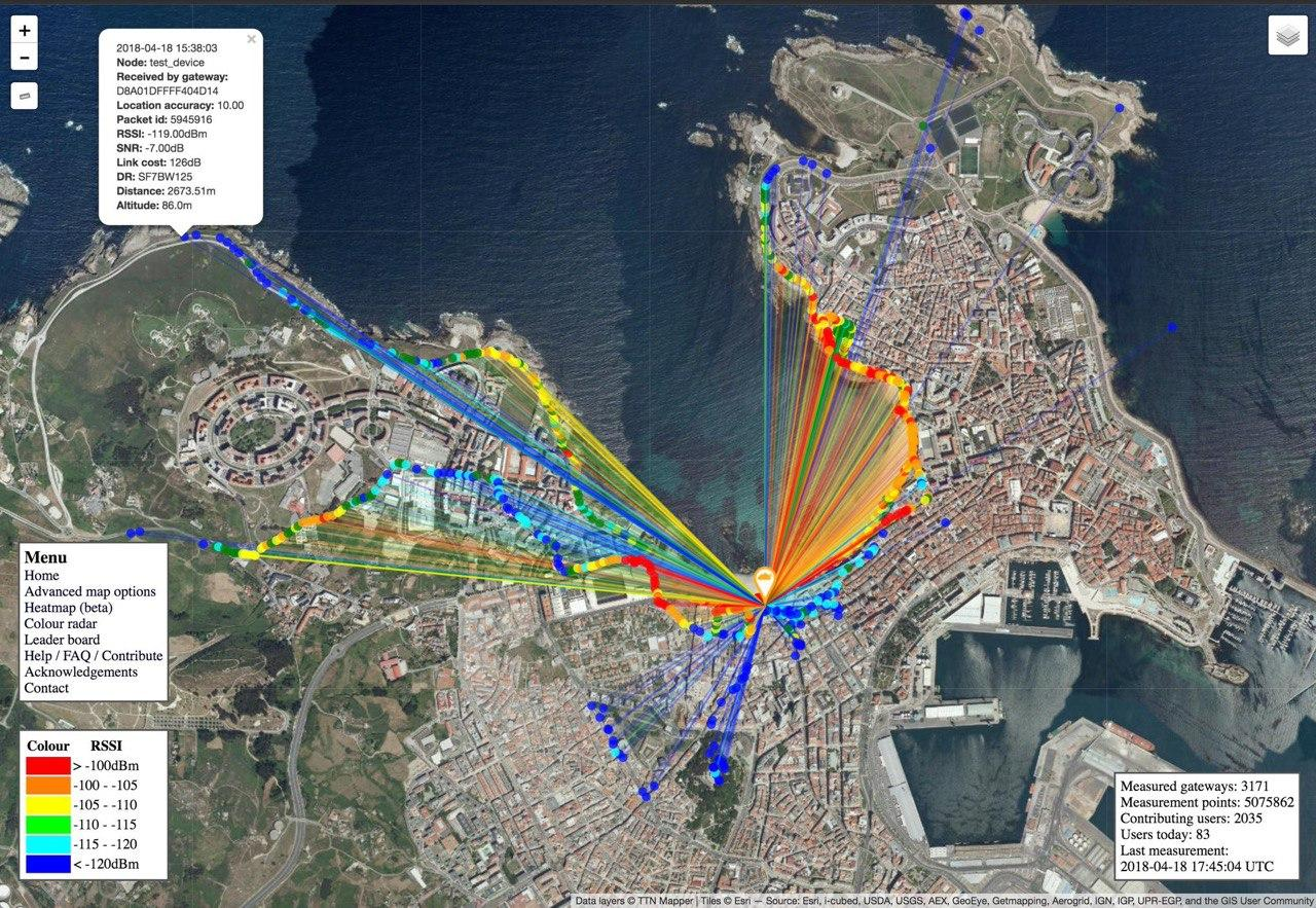 Mapa lora coruña OSHWDem